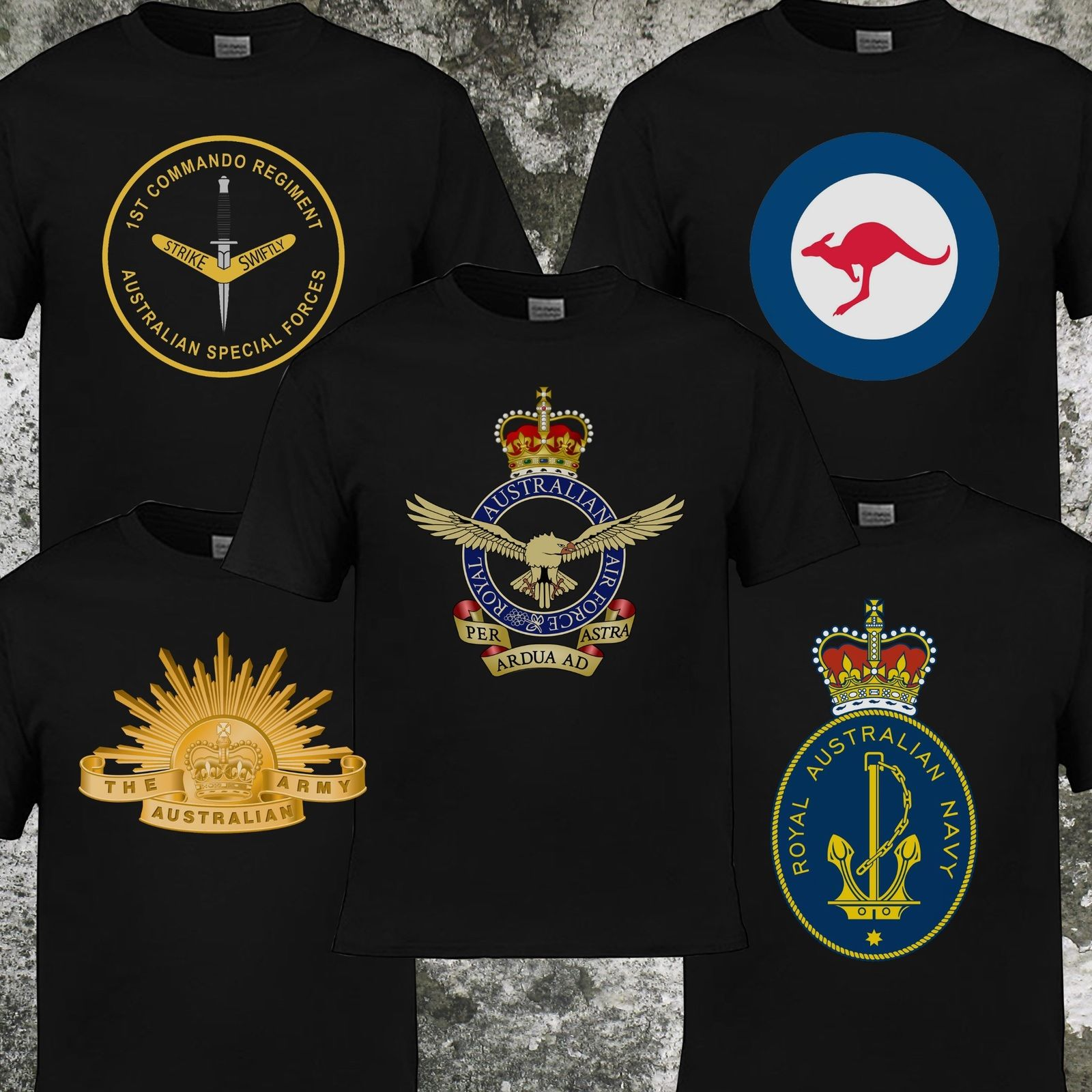 2019 gran oferta de moda Rising Sun ejército australiano, camiseta de la Fuerza Aérea Australiana