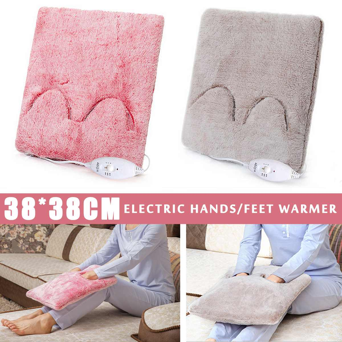 waterproof electric heating pad heater warmer mat blanket for pet 220V Portable Electric Heating Hands Feet Warmer Heater Blanket Pad Winter Seats Warmer Cushion Mat Removable and Washable  20W