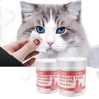 pet eye wipe dog cat cleaning tear wipes cleaning paper towel grooming tool stain remover gentle aloe 100 piece puppy products