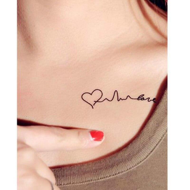Productos Unisex, tatuajes temporales Harajuku, pegatinas impermeables, maquillaje tatuaje de corazón
