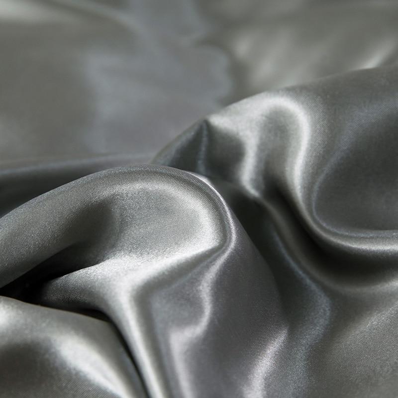 Купить с кэшбэком Silk Satin Flat Sheet Mattress Protector Cover Smooth Bedspread Wedding Beddings Sheet Pillowcase for Women Men Red Black Purple