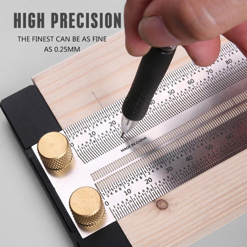 Regla multifuncional de carpintería cuadrada tipo T de alta precisión, medidor de carpintería, herramientas de carpintero con indicador de marcado