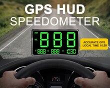 GPS compteur de vitesse C80 Hud affichage voiture KM/h mi/h Aliexpress pas cher C80 Auto électronique affichage de vitesse grand écran A100 Hud