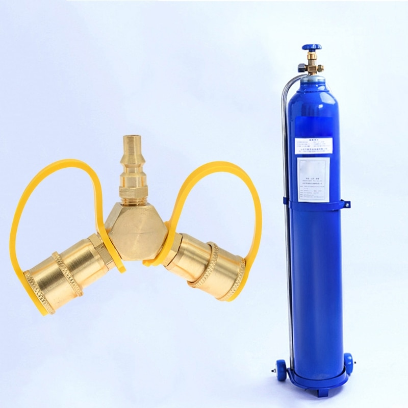 محول زجاجة الغاز النحاس البروبان خزان الغاز اتصال Y الخائن محول محول سريع تدفق كامل Y الخائن محول