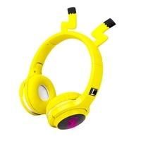 Милая Детская гарнитура Bluetooth 5,0, 7 цветов, светодиодные наушники с поддержкой SD-карты, аудиокабель, наушники для мальчиков и девочек, подарок...