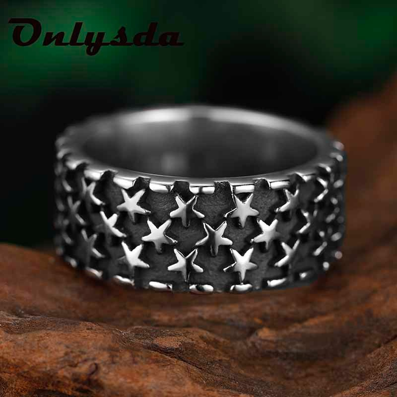 Vintage Star Ring Finger Biker Rings For Fashion Women Wedding Creativity Gift Charm Jewelry Party C