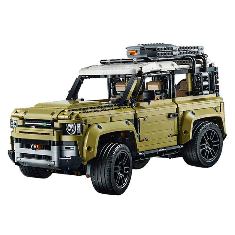 Serie de coches Supercar Land Rover Guardian vehículo de carretera en miniatura bloques de construcción compatibles lepining Technic 42110 Juguetes