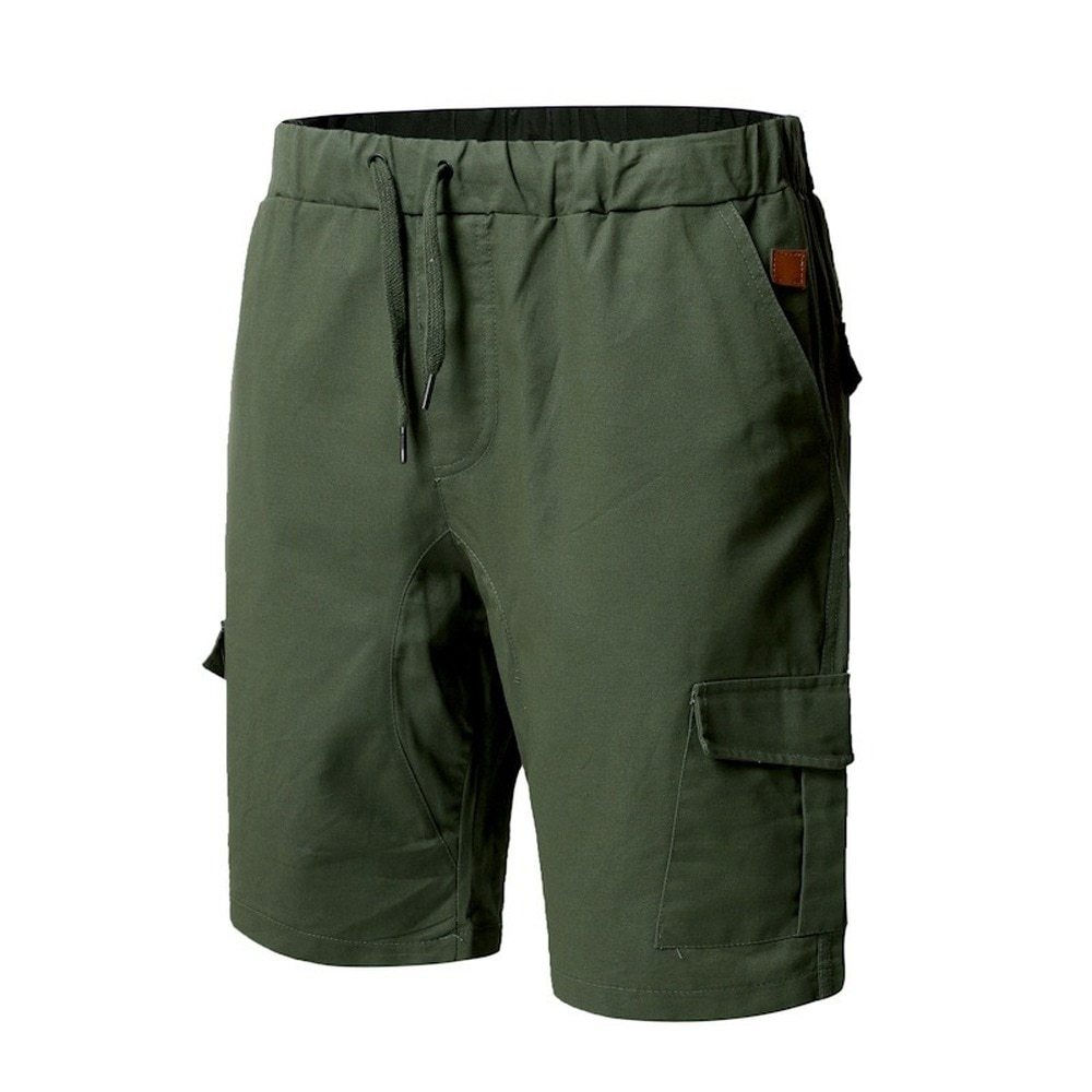 2021 New Shorts For Men Casual Summer Cotton Shorts Drawstring Cotton Work Shorts Male Bermudas Fashion Clothing Multi-Pockets