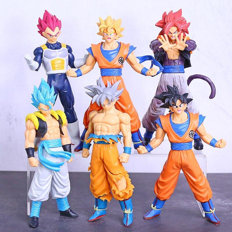 Dragon Ball Super Super Saiyan Action Figure Black Goku Rose Jiren Son Goku Ultra Instinct PVC Model Toys 6pcs/set