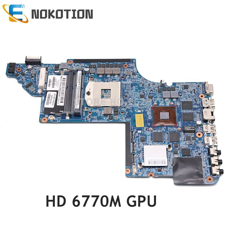 NOKOTION ل HP جناح DV7 DV7-6000 اللوحة المحمول HM65 DDR3 HD6770M GPU 639391-001 665991-001 اللوحة الرئيسية اختبار كامل