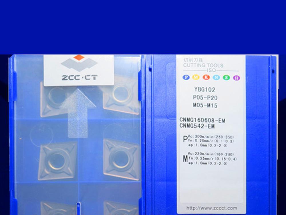 CNMG160608-EM YBG102/CNMG160608-EM YBM253 caribde إدراج 10 قطعة