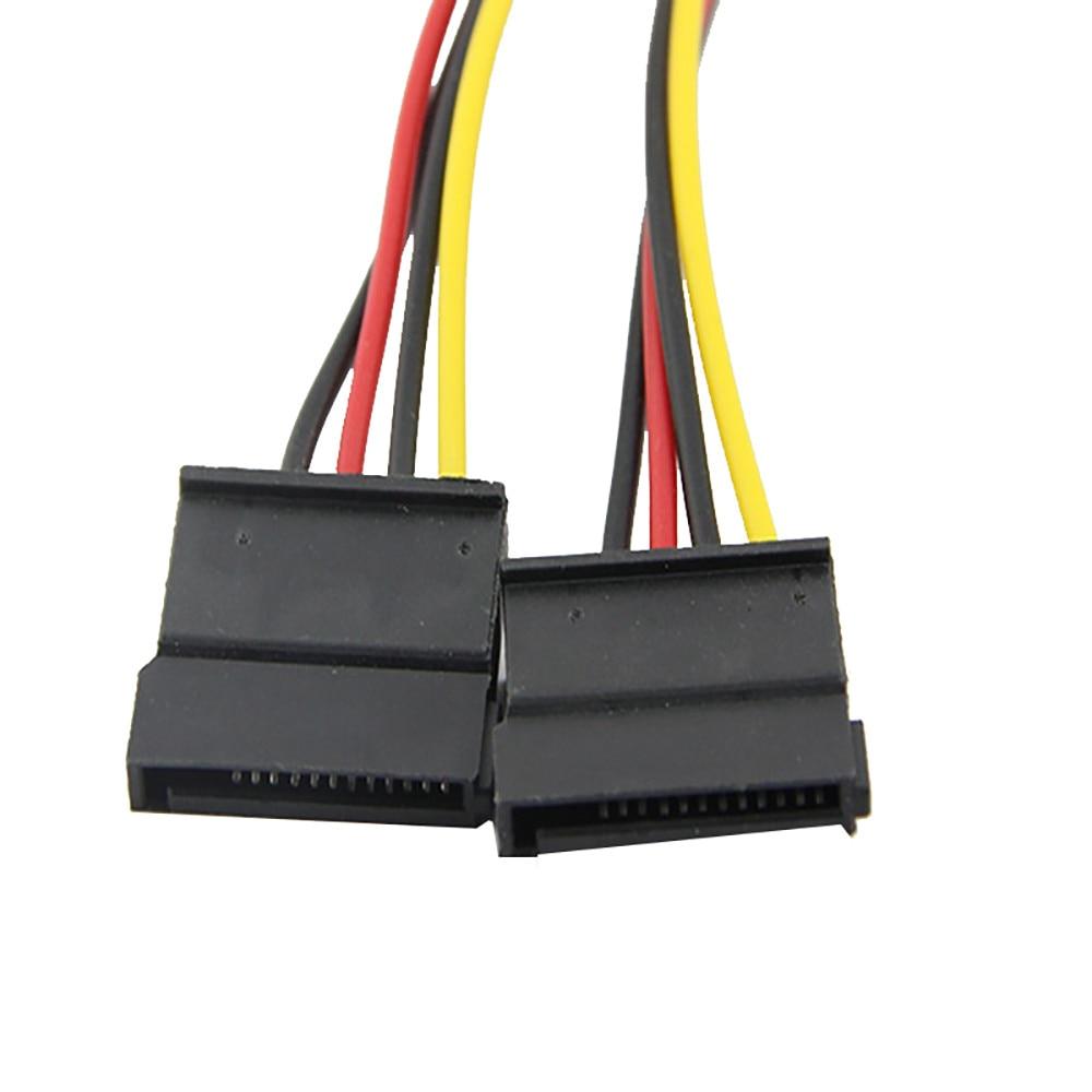 4pin Ide Molex To 2 Serial Ata Sata Y Splitter Hard Drive Power Supply Cable Drive Power Supply Cable Computer Cable Connector