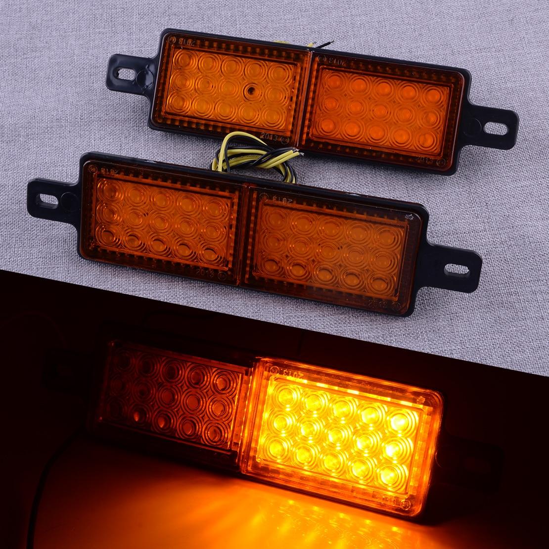 2Pcs Universal Amber 12V 30 LED Front Indicator Park Light Bull Bar Marker Lamp for Caravan Pickup Truck Trailer Boat Lorry Van