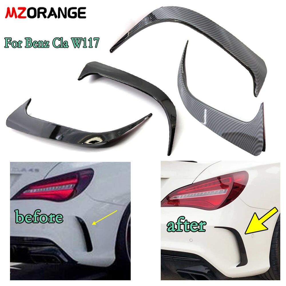 MZORANGE Rear Bumper Spoiler Air Vent Cover For Mercedes-Benz Cla W117 Cla45 Amg 2013-2018 Car Rear Parts