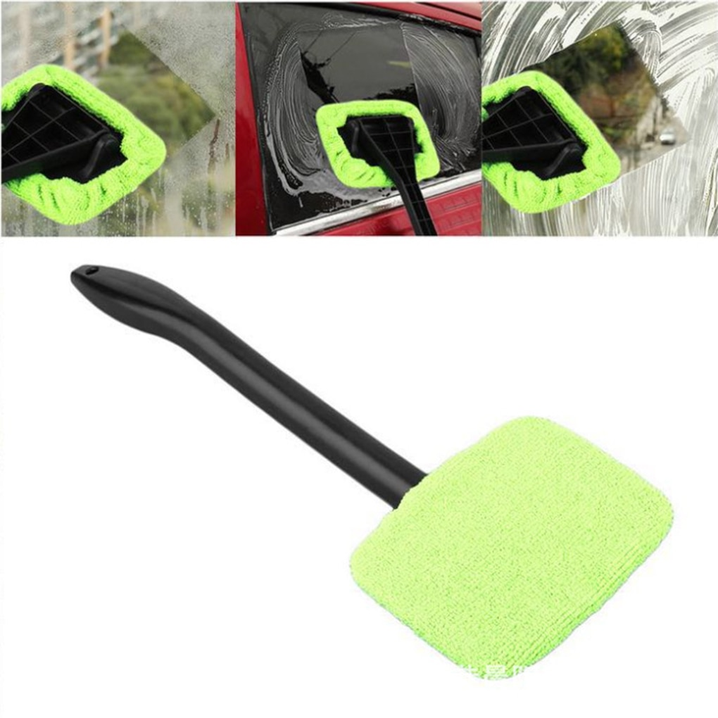 Car Windshield Clean Brush Automotive Window Glass Cleaning Brush Tool with Long Handle Car Window G