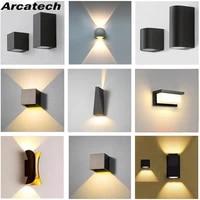 led wall lamp aluminum outdoor ip65 waterproof wall light for home stair bedroom bedside bathroom corridor lighting nr 217