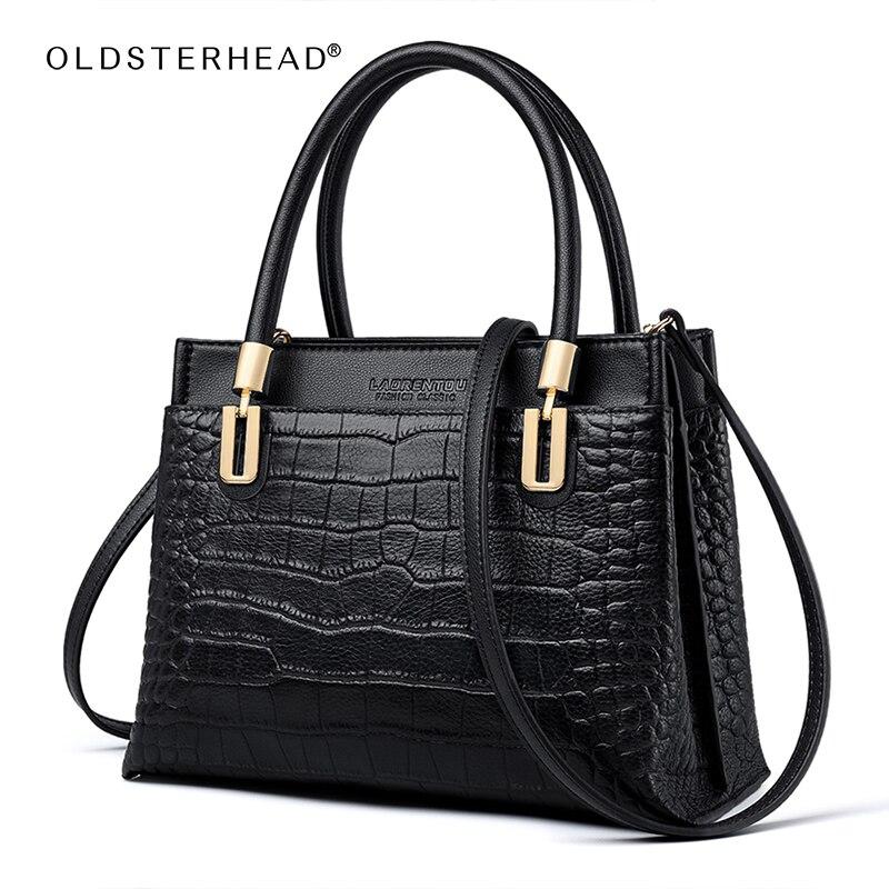 OLDSTERHEAD Gentlewoman Commute Handbag Large Capacity Classic Shoulder Bag Lady Genuine Leather Vintage Tote Mother's Day Gift