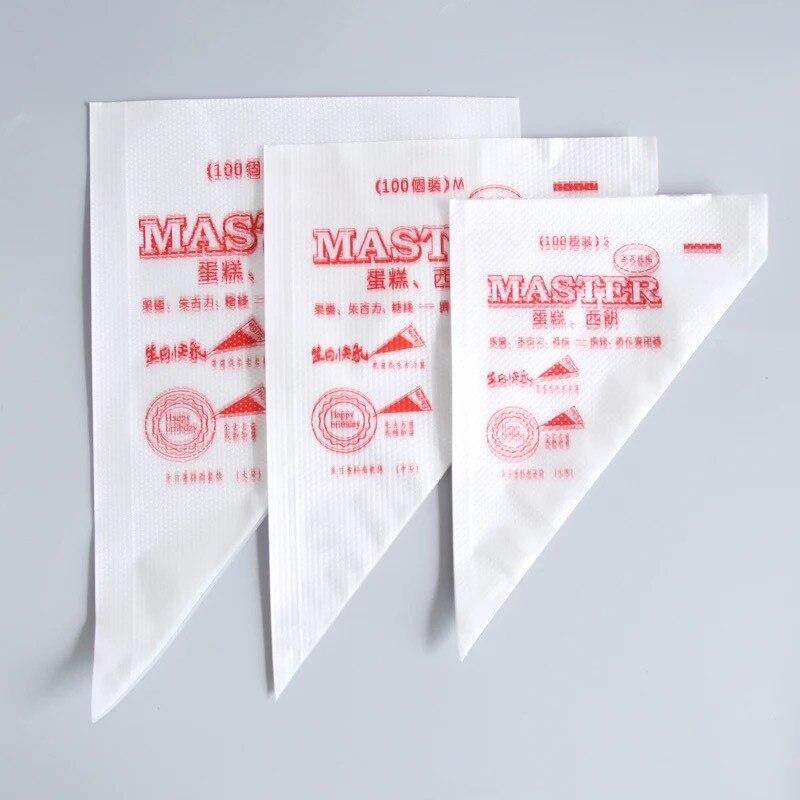 100 шт./пакет Одноразовые кондитерский мешок насадка для выпечки тортов с помадной начинкой декоративная форма Кондитерские глазури насадки...