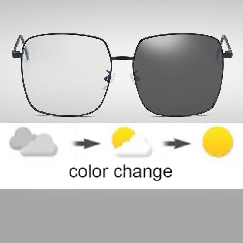 Fotocrómico Anti Blue Ray Compute gafas mujeres hombres Ultra ligero camaleón Anti-UV al aire libre conducción gafas