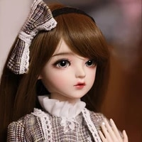 60cm bjd doll gifts for girl brown hair doll with clothes change eyes jenny nemee doll surprise handmade plaid skirt doll