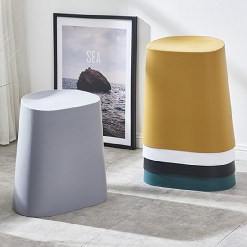 Modern Minimalist Plastic Stool Dining Stool for Dining Rooms Restaurant Furniture Living Room Bedroom Kitchen Cafe Dining Stool