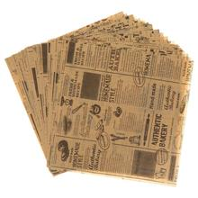 50 Sheets Oil-Proof Wax Paper Waterproof Food Wrapping Burger Fries Bread Sandwich Paper Wedding Party Baking Tools