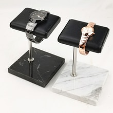 PU Leather Watch Display Oragnizer Stand Holder Table Top Jewelry Tower for Men Women Jewelry Gift O