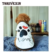 summer dog clothes pet clothing love vest bichon teddy puppy clothes vest pets clothes for small dogs shirts for dogs costumes