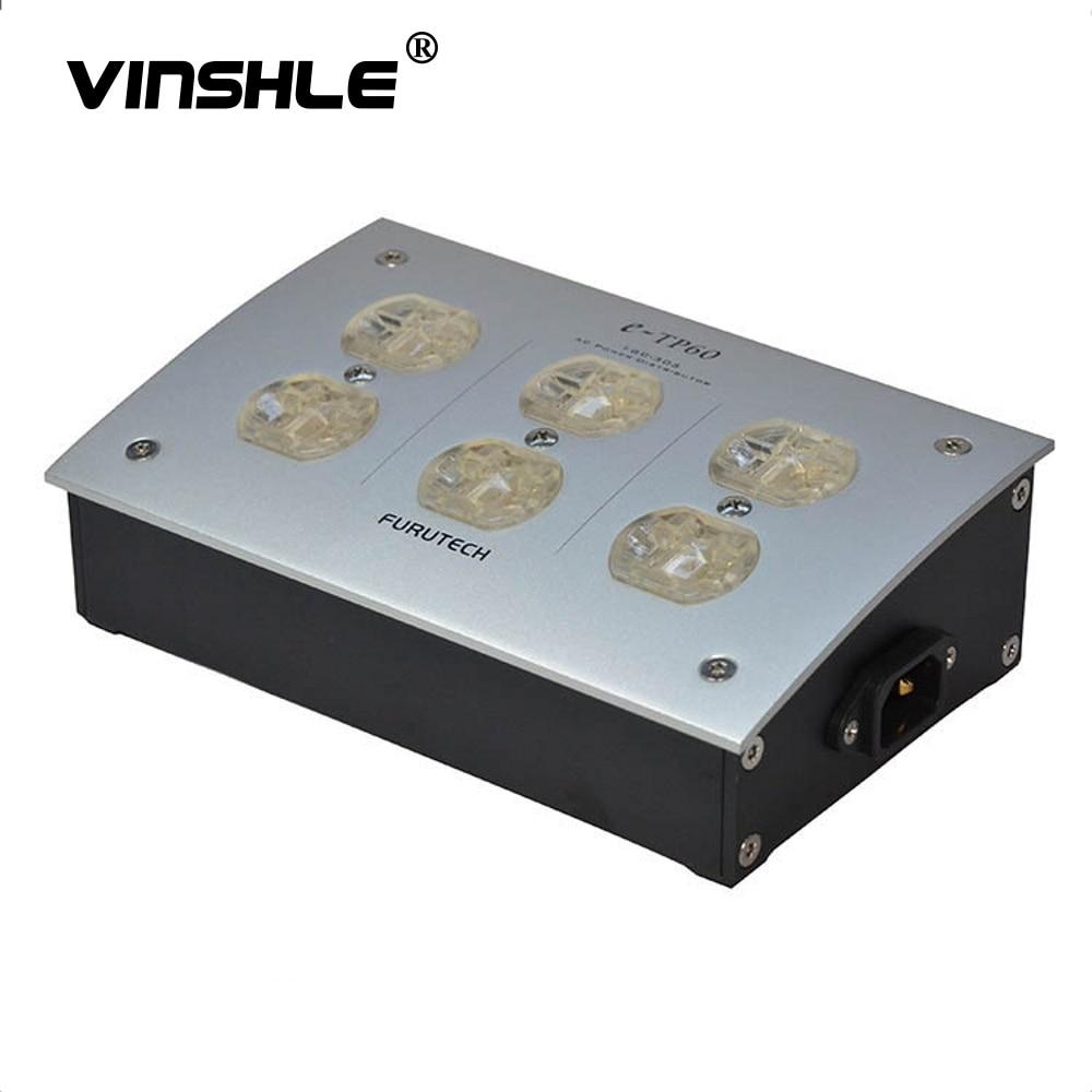 FURUTECH e-TP60 Источник питания переменного тока поглощающий шум Дистрибьютор от электромагнитной волны GC-303 IEC 220 В 50/60 Гц 15A 15 Ампер