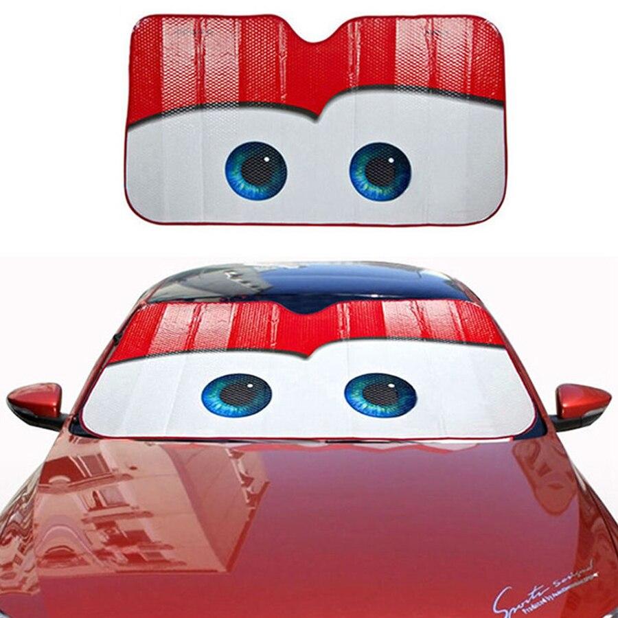6 Colors Eyes Heated Windshield Sunshade Car Window Windscreen Cover Sun Shade Auto Sun Visor Car-covers Car Solar Protection