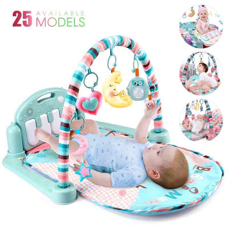 25 Styles Play Mat With Piano Keyboard Baby Carpet Music Puzzles Mat Educational Rack Toys Infant Cr