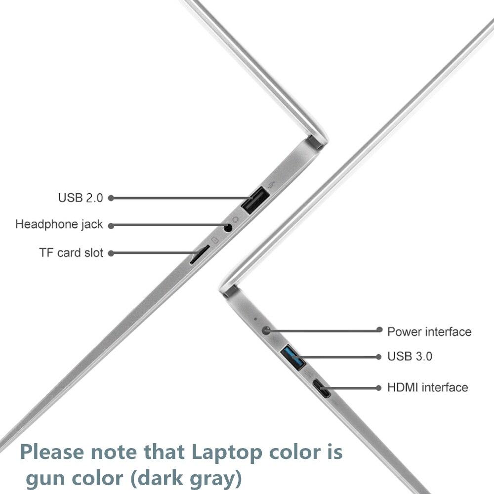 Windows 10 Pro 6GB LPDDR4 128GB 256GB SSD 1920*1080 IPS Intel J3455 IPS screen portable computer 13.3-inch laptop