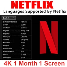 1 mois Netflix premium Netflix nederland netflix compte allemagne deutsch 4k españa latino suède europe pour tv stick PC TV