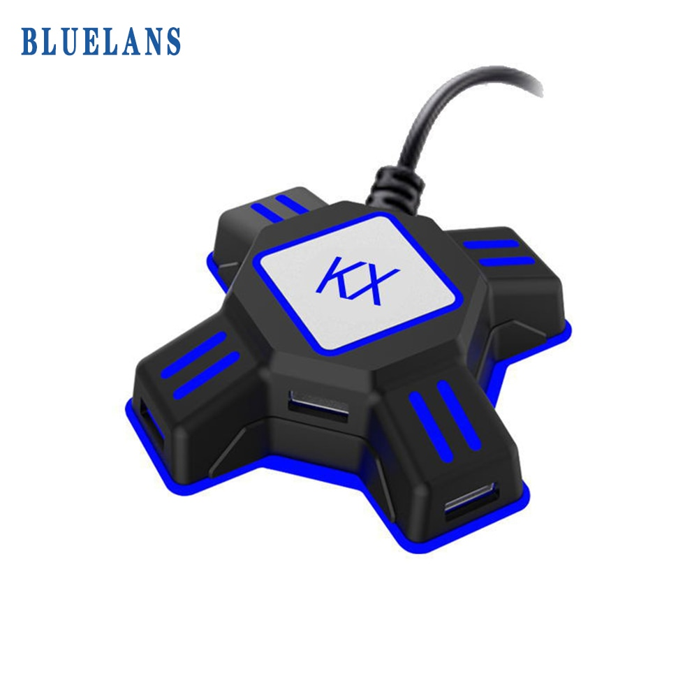 For KX USB Keyboard Mouse Adapter Gamepad Controller Video Converter For PS4 PS3 Xbox One Nintendo S