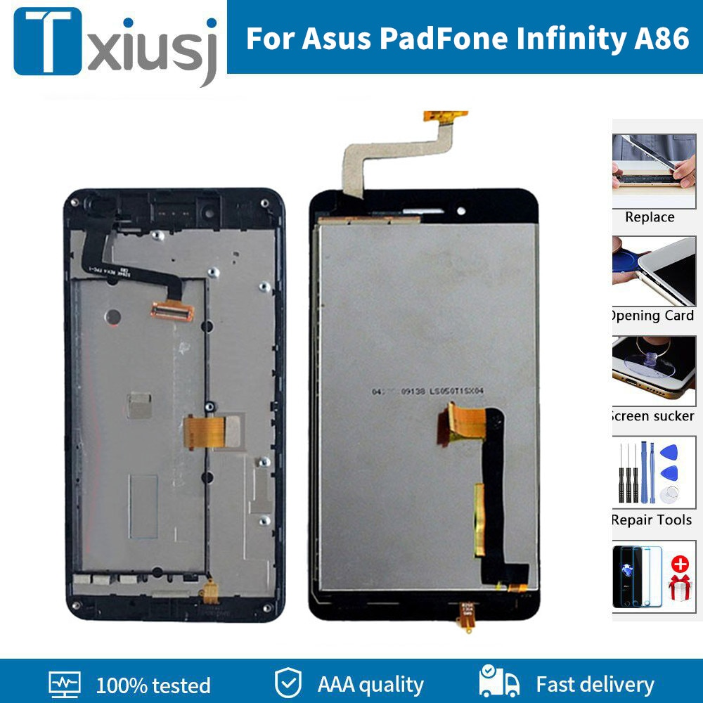 Pantalla LCD + marco para Asus PadFone Infinity A86, montaje de digitalizador...