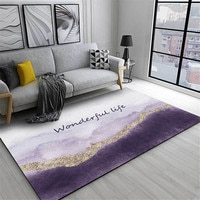 Wishstar Nordic Luxury Gray Purple Gold Carpet Girls Room Bed Rugs Long Carpet For Kitchen Floor Doormat Hallway Carpet Decor