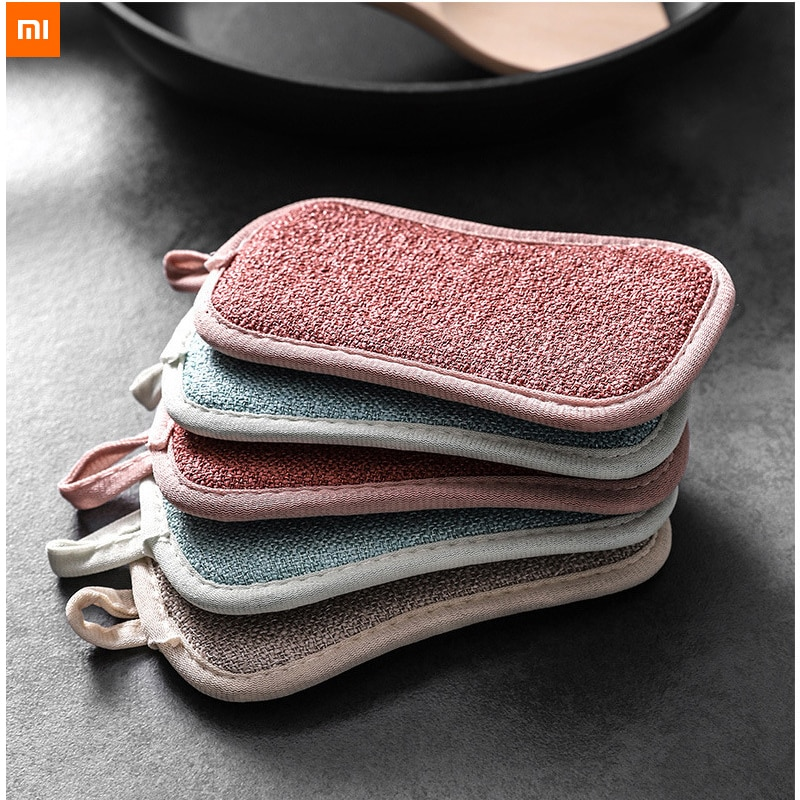 2 шт. Xiaomi Youpin Чистящая Щетка для обеззараживания кухонная двухсторонняя Волшебная салфетка для мытья посуды губка для мытья посуды антипригарное масло