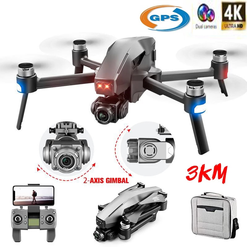 New GPS Drone 4K HD Camera Brushless Motor 2-Axis Gimbal 4K HD camera RC Distance 3KM 5G WIFI FPV Sy