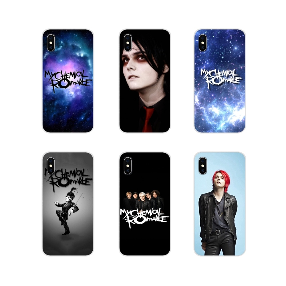 Saco de Capa mole Gerard Way My Chemical Romance Mcr Rocha Para O iPhone Da Apple X XR XS 11Pro MAX 4S 5S 7 8 5C SE 6S Plus ipod touch 5 6