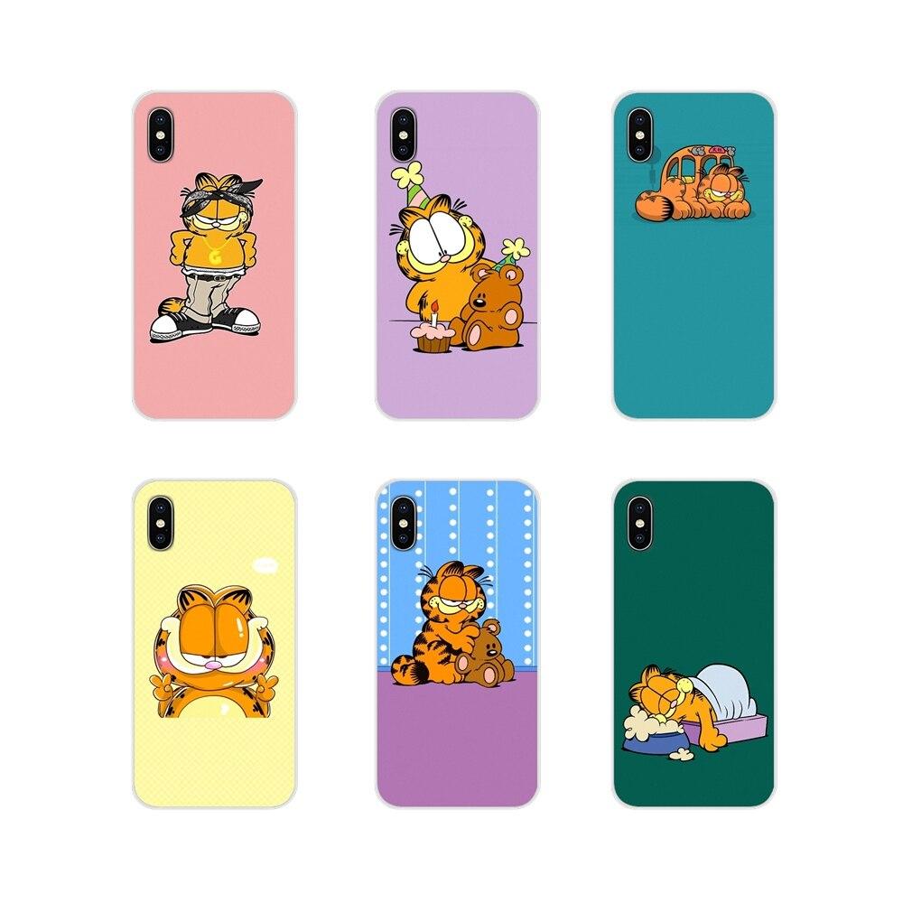 Para Samsung Galaxy J1 J2 J3 J4 J5 J6 J7 J8 Plus 2018 primer 2015 de 2016 de 2017 adorable animal Garfield suave transparente cubre los casos