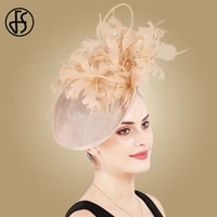 fs feathers hats derby fascinator large sinamay blue women kentucky bridal wedding hat elegant big church hats