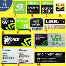 Оптовая продажа, водонепроницаемая и термостойкая декоративная наклейка, графическая карта NVIDIA GTX GEFORCE, этикетка для ноутбука и настольного...