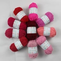 adohon 10 pack 43 yard acrylic yarn assorted colors skeins perfect for mini knitting and crochet project diy cardigan scarf hat