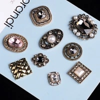 5 pcslot rhinestone pearl plate diamond button jewelry scarf for hair accessories sewing decorative clothing coat buttons