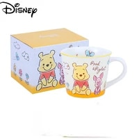 disney exquisite ceramics with gift box spoon mug simple cute cartoon printing large capacity coffee cup breakfast cup
