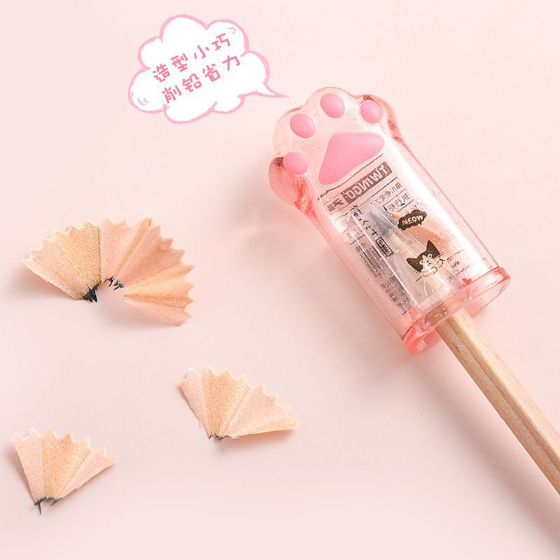 Cute Cat Paw Pencil Sharpener Kawaii School Supplies Stationery Items Student Prize for Kids Gift