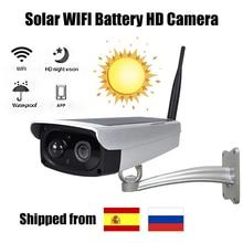 Caméra solaire 1080P   Surveillance de sécurité sans fil Wi-fi 2 mp, caméra extérieure étanche IR Vision nocturne, caméra solaire HD