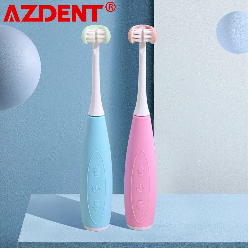 3 12years idade 3 lado criancas sonic escova de dentes eletrica 5 modos escova de