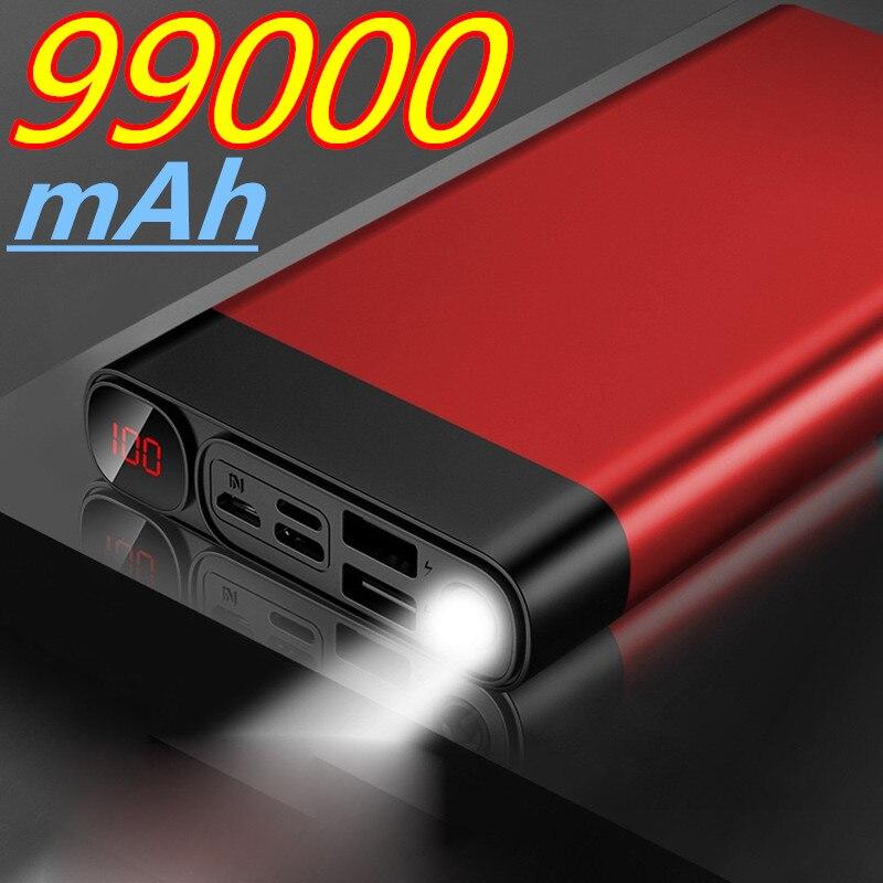 باور بانك 99000 mAh قابل للحمل ، شاحن بطارية خارجي للهاتف المحمول ، باور بانك 99000 mAh لهاتف شاومي Mi