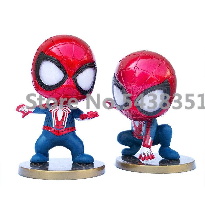 5 Estilo de dibujos animados modelo de Spiderman coche ornamento Shake Head Toy resina Auto Interior Dashboard decoración muñeca accesorios regalo Trim